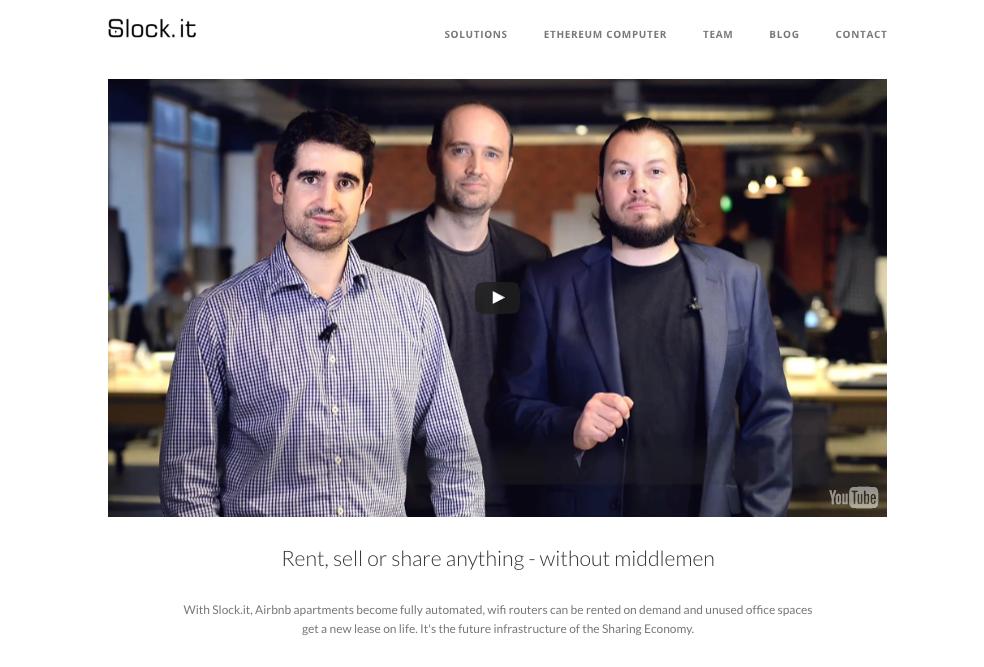 ブロックチェーンとシェアリングエコノミー – Slock.it