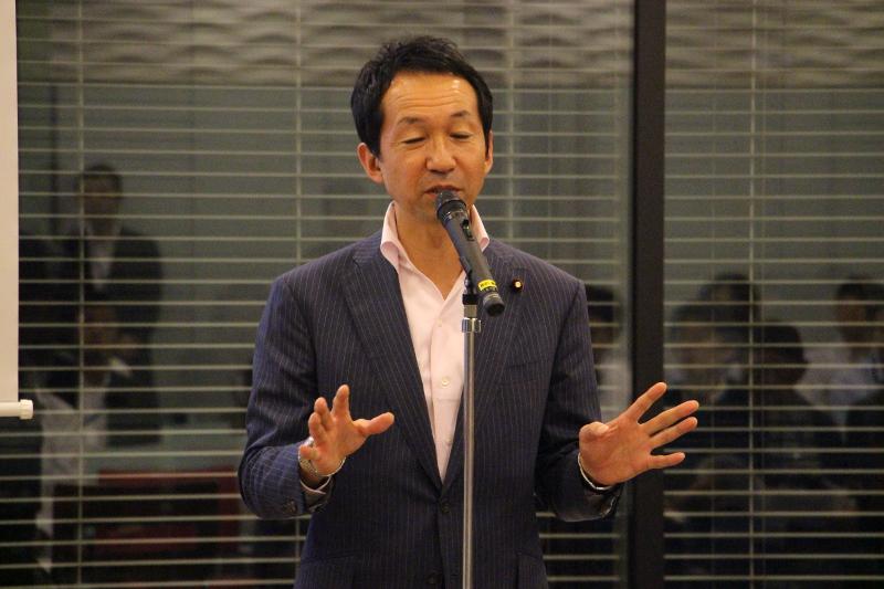 衆議院議員 自民党 IT戦略特命委員 福田峰之議員、JBAミートアップでご挨拶