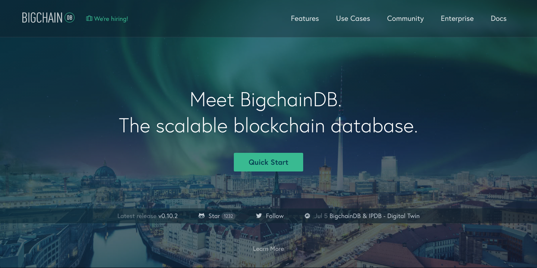 スケーラブルな分散型ブロックチェーンデータベースBigchainDB