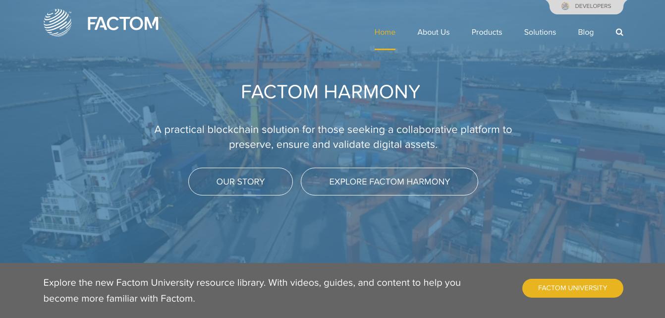 ブロックチェーンを利用した公証プラットフォームFactom