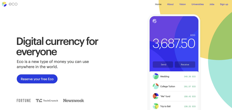 Uberの共同創業者による仮想通貨Eco