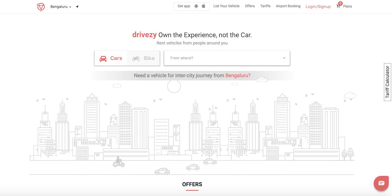 インドでP2Pカーシェアリングを展開するDrivezy