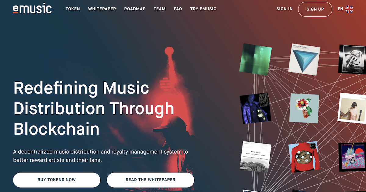 ブロックチェーンベースの音楽プラットフォームeMusic