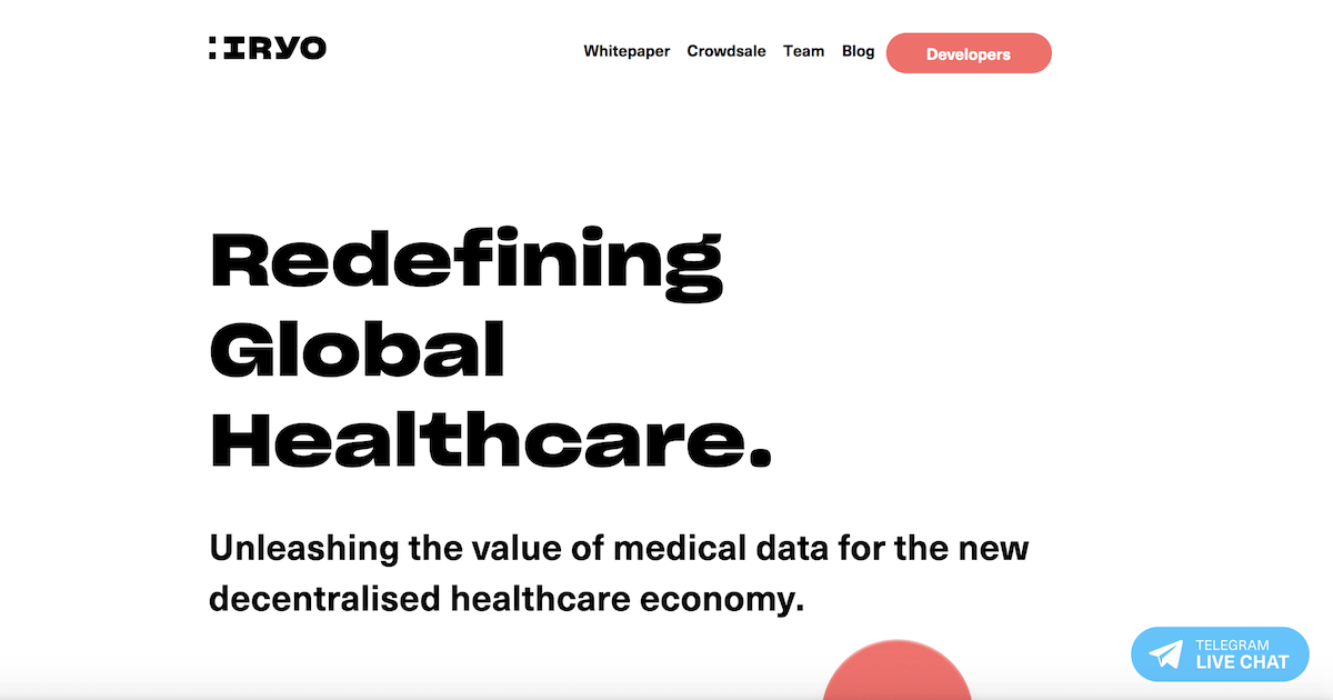 ブロックチェーンを利用した医療記録プラットフォームIryo