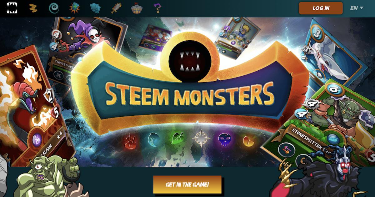 ブロックチェーンベースのカードバトルゲームSteem Monsters