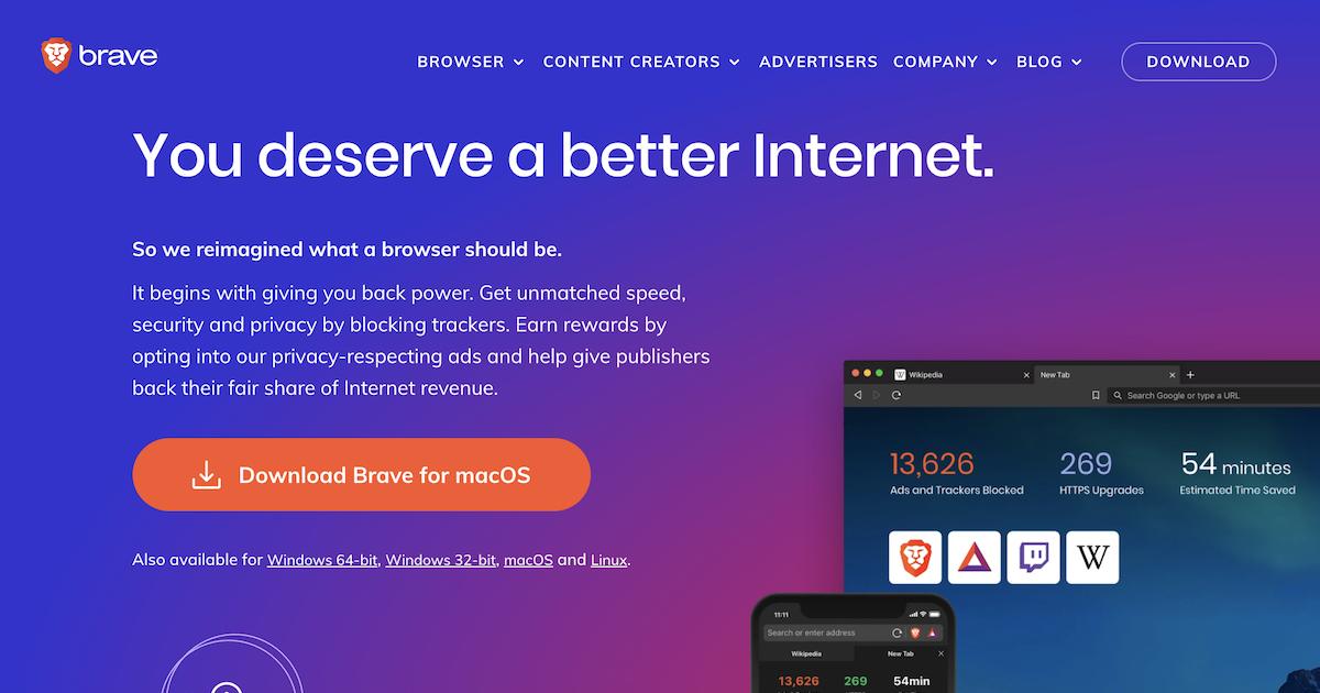 安全で高速なブラウジング体験でインターネットを変革するBraveブラウザ
