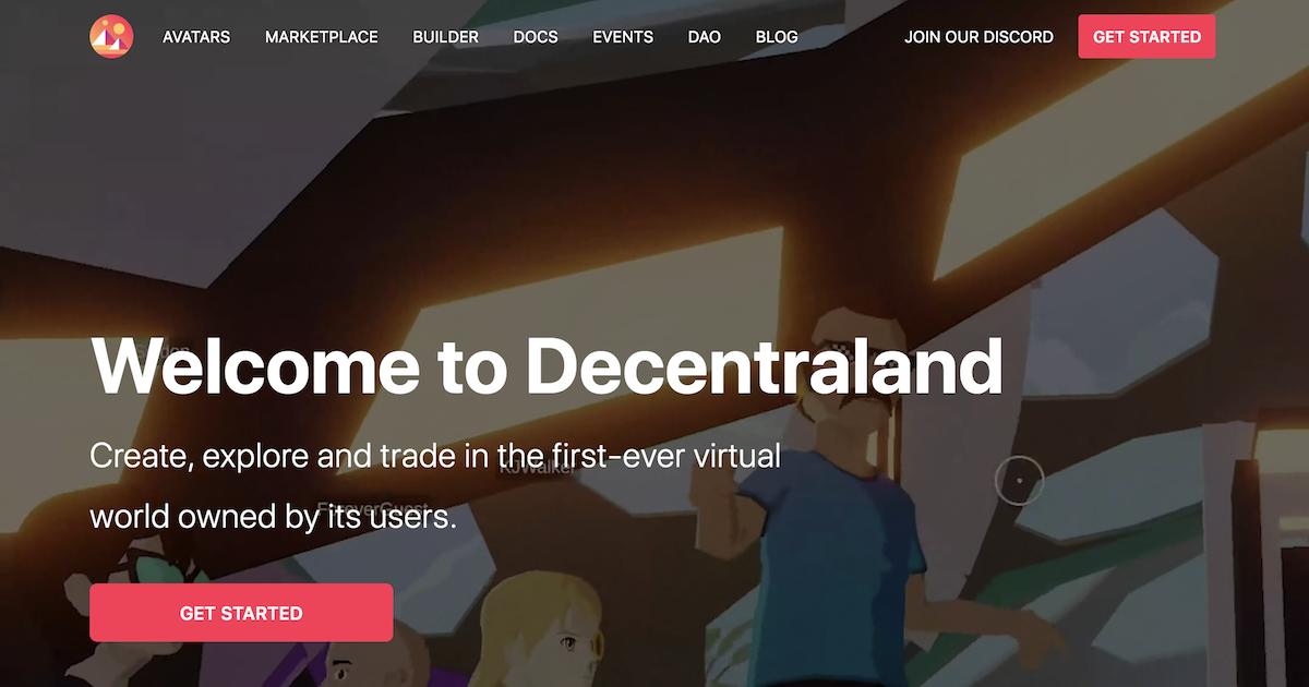 ブロックチェーン上の3D仮想世界Decentraland