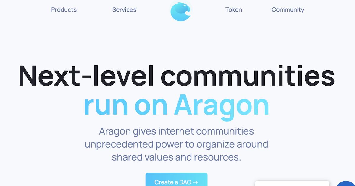 自律分散型組織(DAO)の作成・運用を支援するAragon